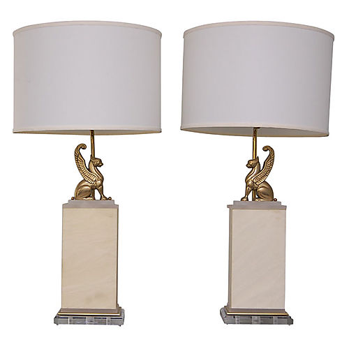 Griffon table lamps