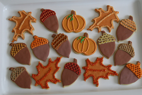 Fall leaf cookies flickr