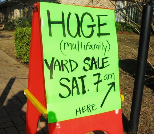 Yardsale sign
