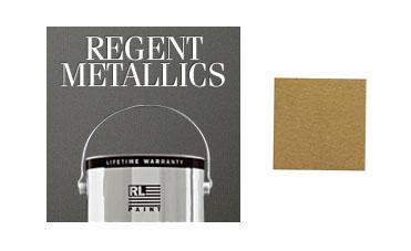 Regent metallic golden candlesticks