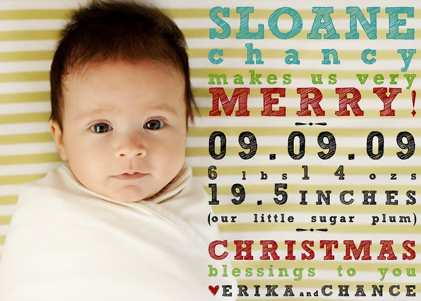 Christmas Card And Birth Announcement | Holliday Decorations